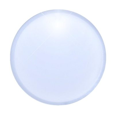 Light Up Round Badge Pin White Flashing