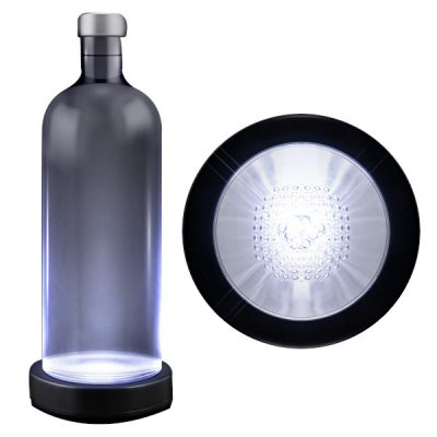White LED Switch Activated  Bottle Base Light Display Drink Coaster LED Light Up Drink Coaster