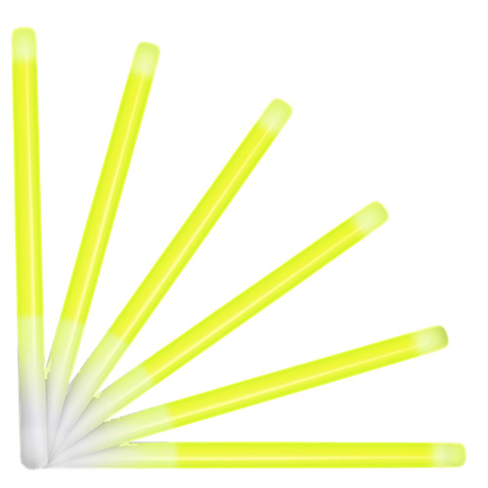 10 Inch Glow Stick Baton Yellow Pack of 25 All Products