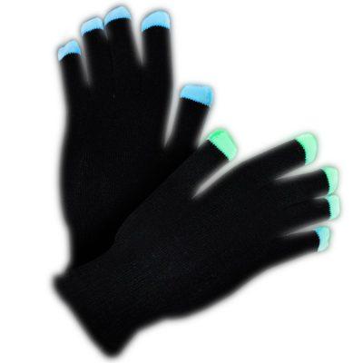 LED Black Gloves Rainbow LEDs All Products