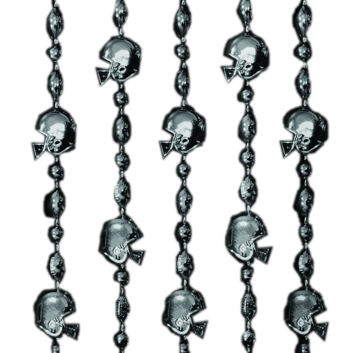 Football Helmet Bead Necklaces Black Pack of 12 All Products