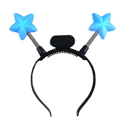 Light Up Blue Star Head Boppers 4th of July