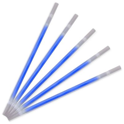 Blue Glow Drinking Straws Pack of 25 Blue