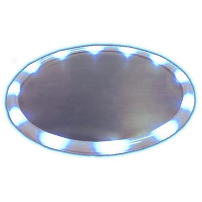 LED Serving Tray Blue Light Up Housewares