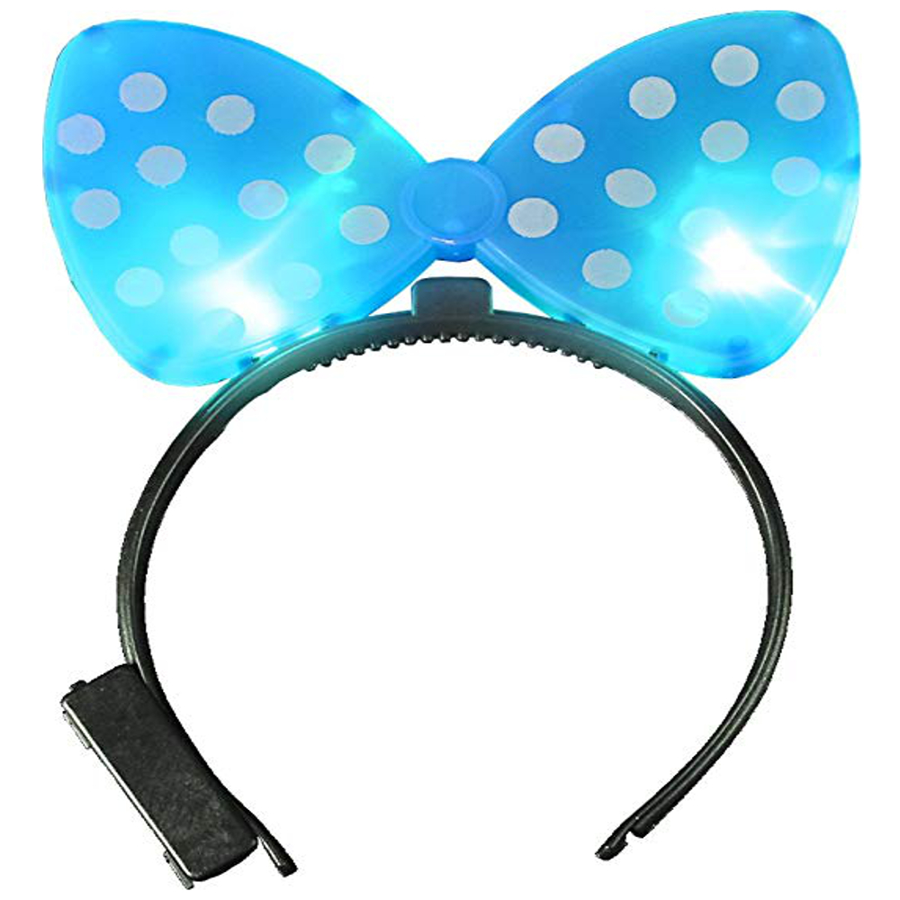 Light Up Hard Shell Bow Headband Blue All Products