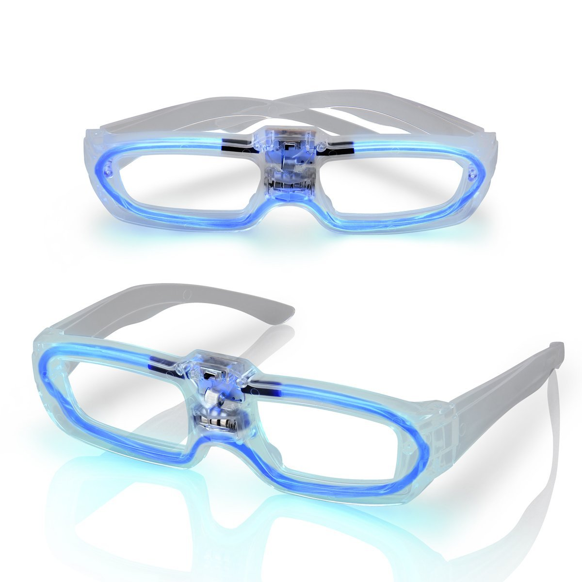 Sound Activated Glasses Blue All Products