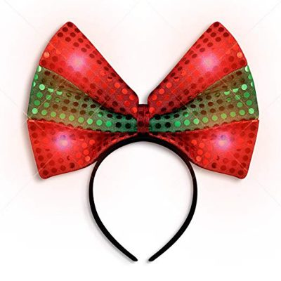LED Christmas Bow Light Up Headband All Products