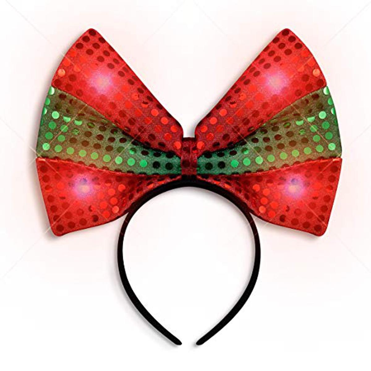 LED Christmas Bow Light Up Headband All Products