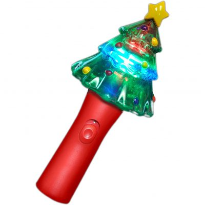 Christmas Tree Wand with Spinning Lights Christmas Light Up Wands