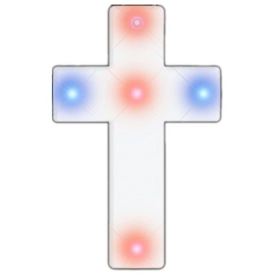 Cross Necklace Flashing Body Light Rainbow Multicolor