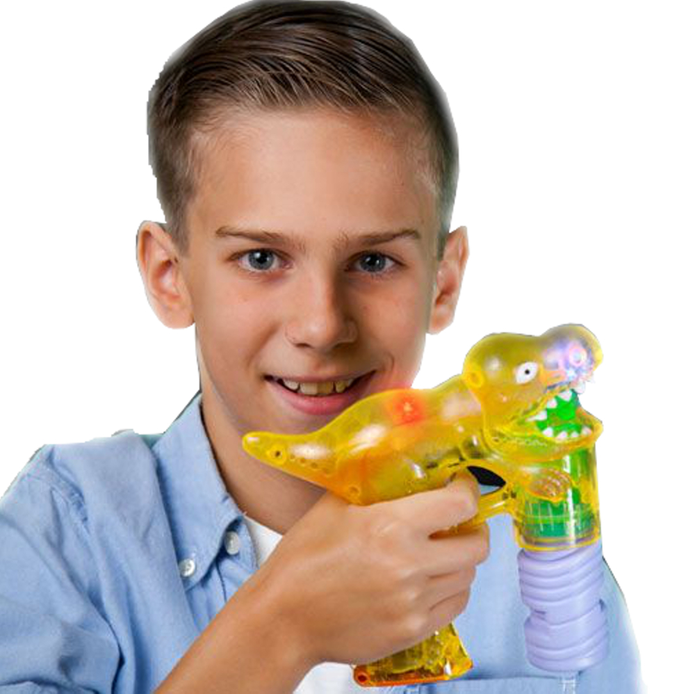 T Rex Dinosaur Lighted Bubble Gun All Products