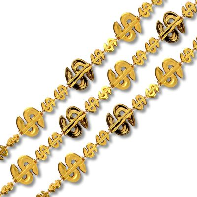 Dollar Sign Bling Necklace Pack of 12 All Products