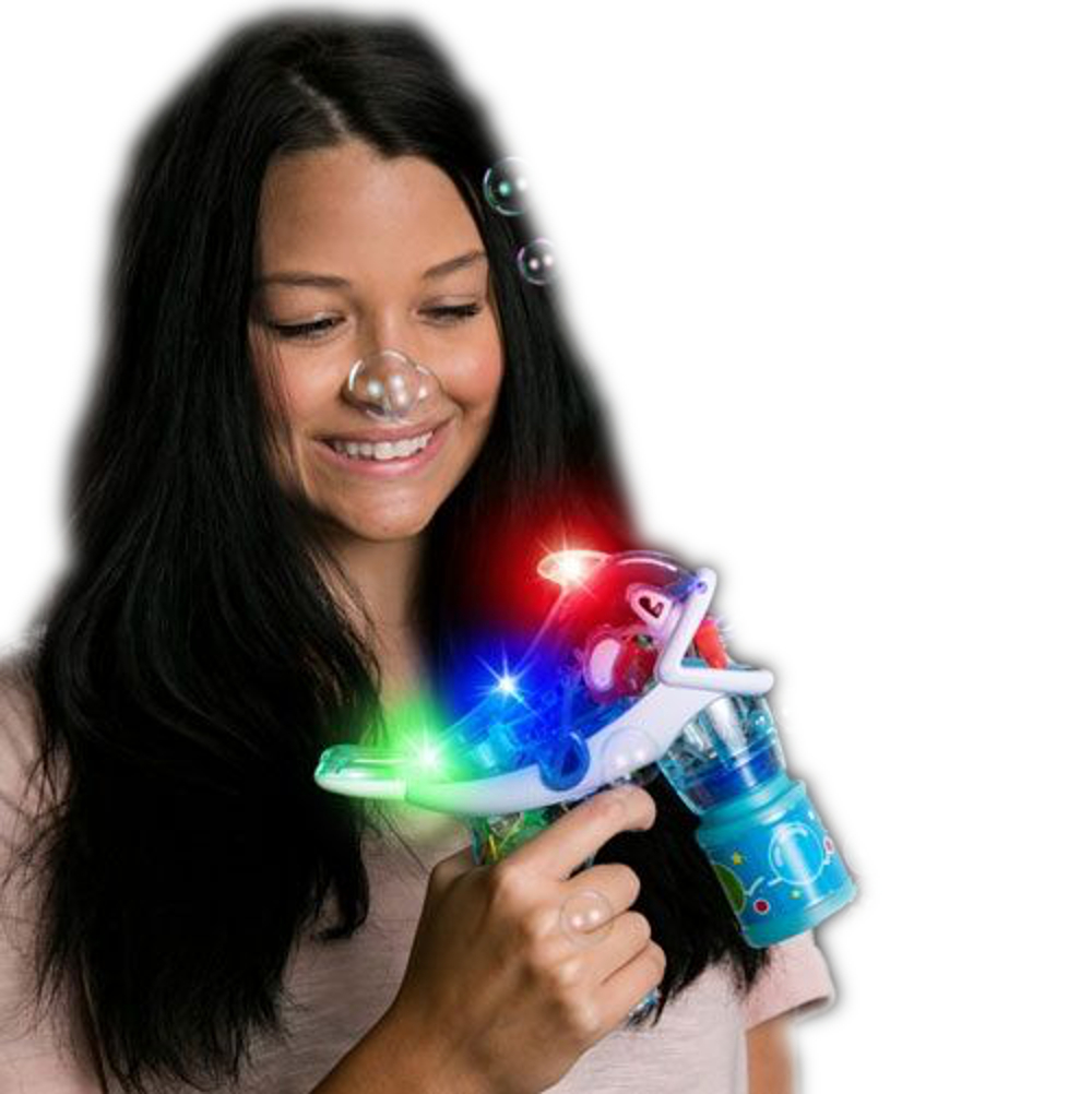 Light Up Dolphin Bubble Gun Assorted Colors All Products