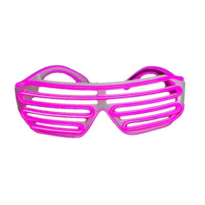 Electro Luminescent Shutter Shades Pink Pink