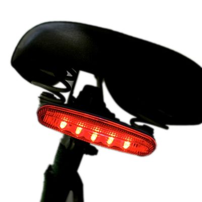 Five LED Bicycle Tail Light Red
