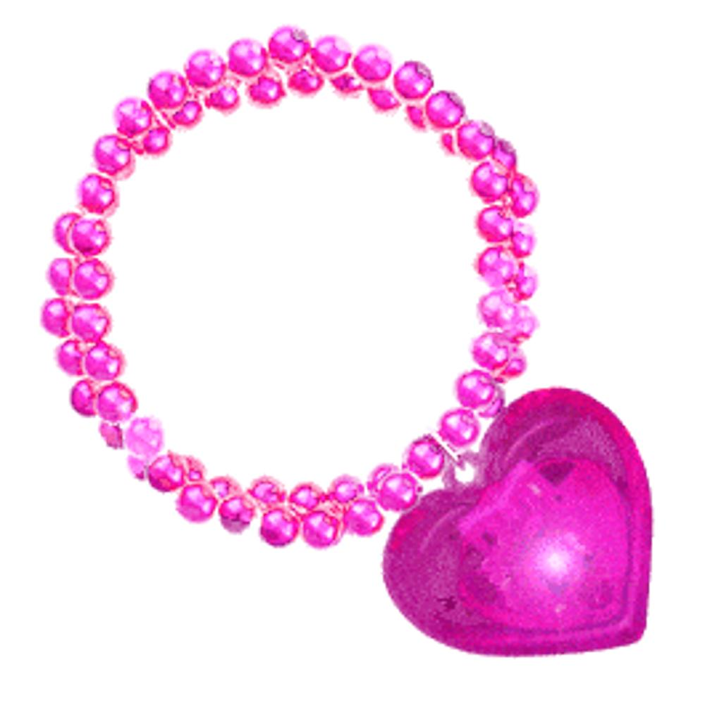 LED Pink Heart Bracelet Child Size All Products
