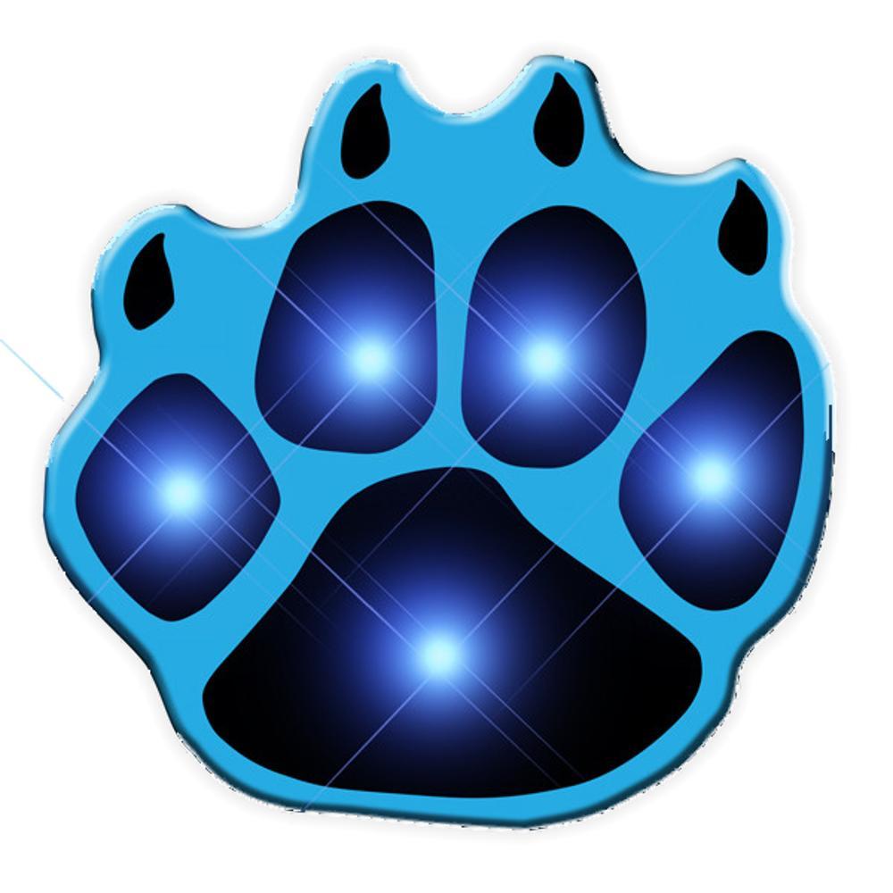 Pawprint Flashing Body Light Lapel Pins All Body Lights and Blinkees
