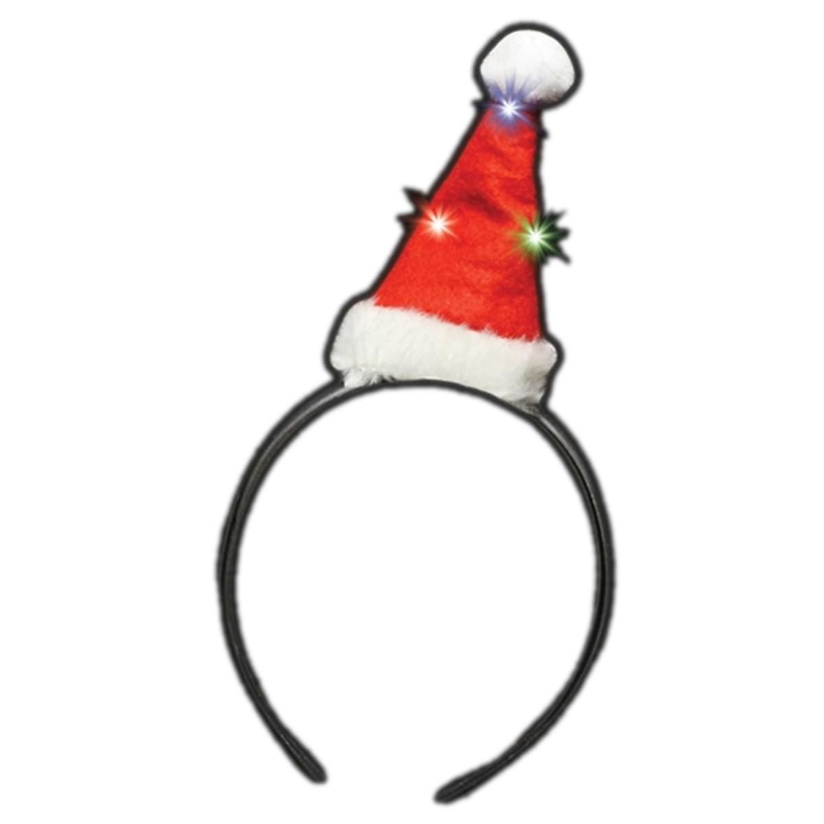 Flashing Mini Santa Hat Light Up Headband All Products