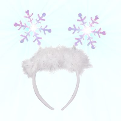 Flashing Snowflake Head Boppers Light Up Headband All Products