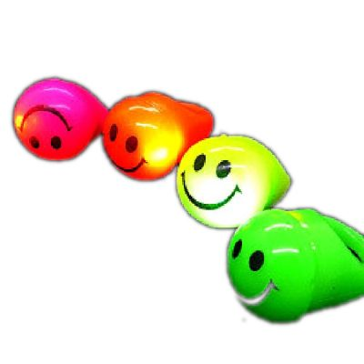 Flashing Soft Smiley Face Rings Pack of 24 Rainbow Multicolor