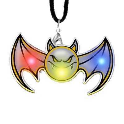 Flying Bat Necklace Flashing Body Light Necklace Rainbow Multicolor