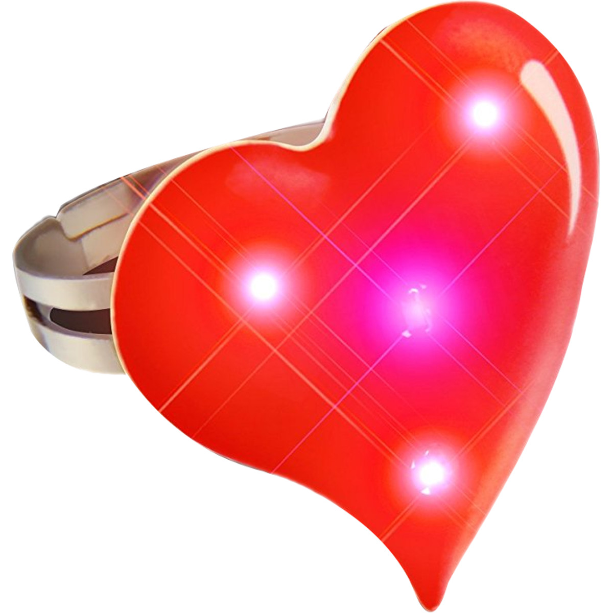 Funky Heart Ring Flashing Body Light Lapel Pins All Products