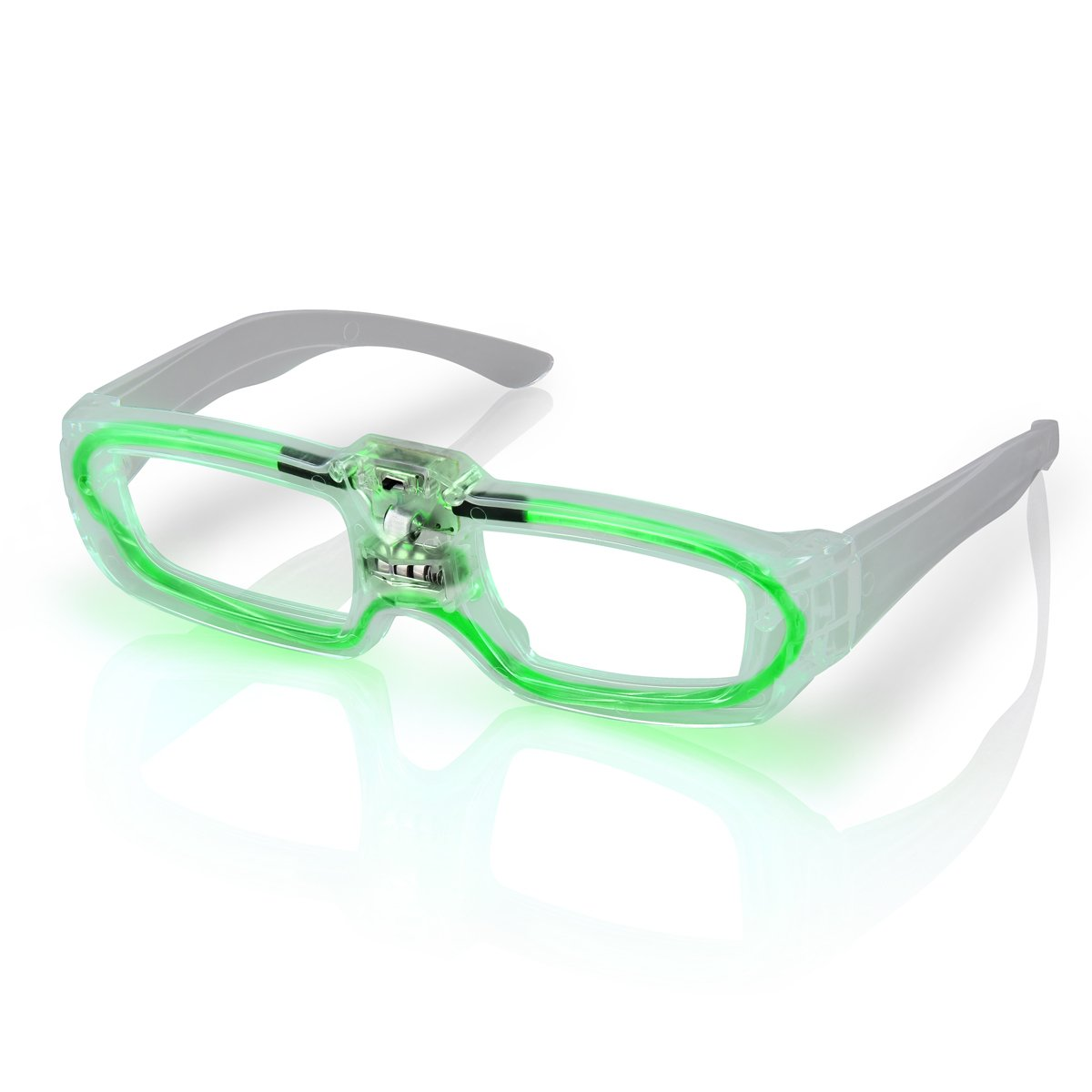 Sound Activated Glasses Green All Products