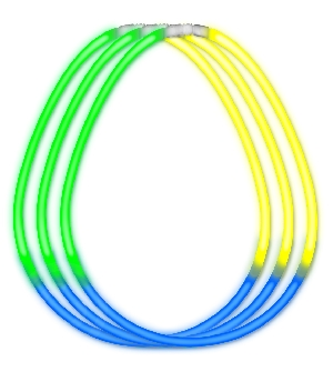 Glow Necklace Tri Color Tube of Fifty All Products
