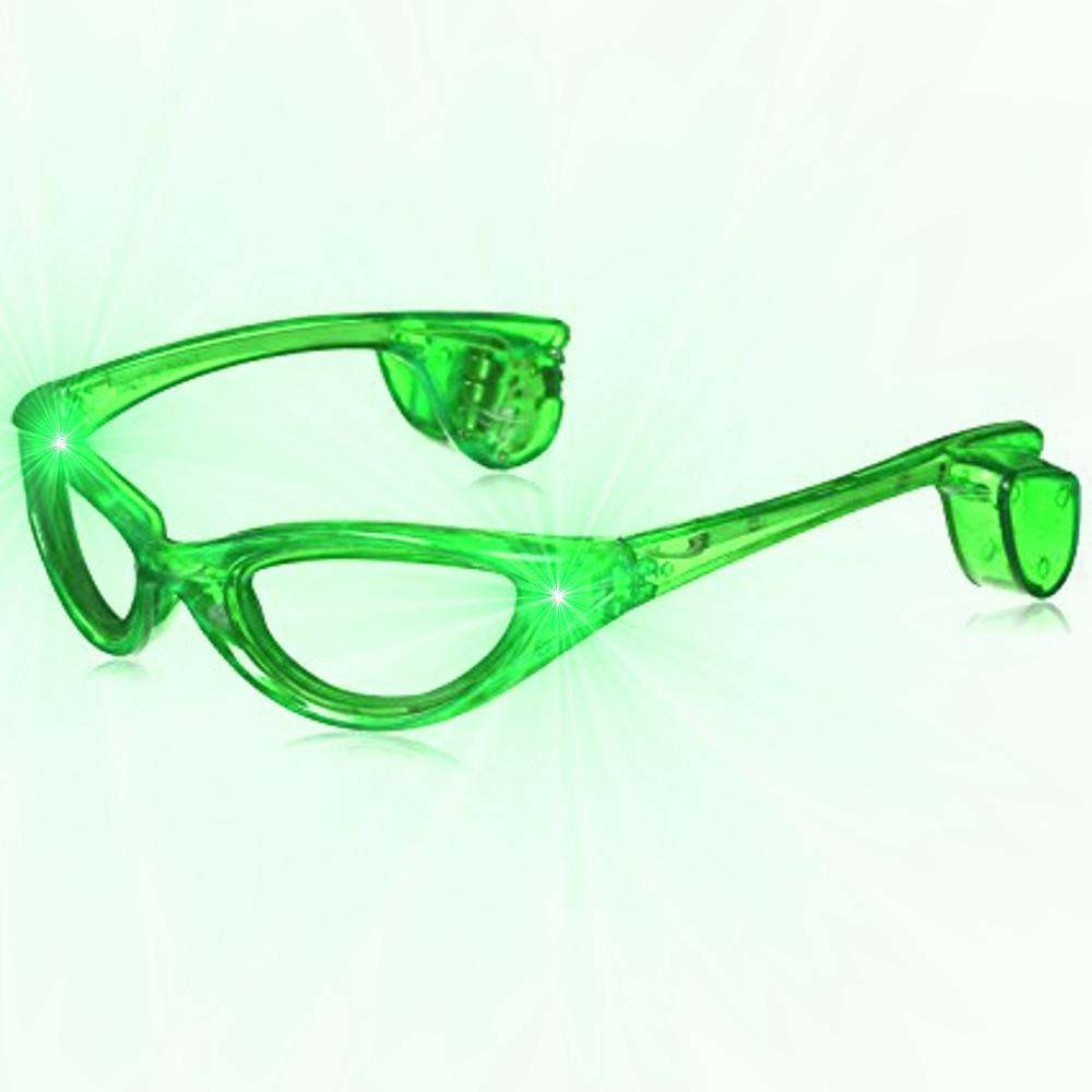 f9891650c46 Green LED Sunglasses • Magic Matt s Brilliant Blinkys