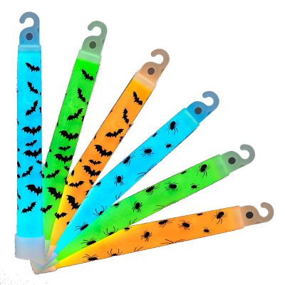 Halloween Spiders and Bats 6 Inch Glow Sticks Pack of 25 6 Inch Glow Sticks