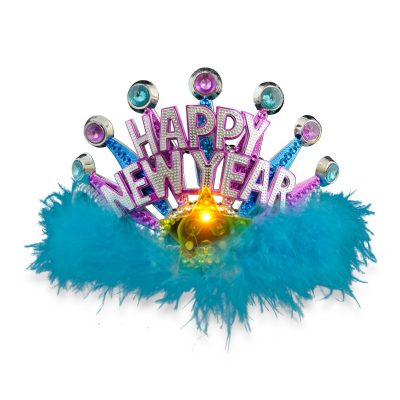 Happy New Year LED Tiara Light Up LED Crowns and Tiaras