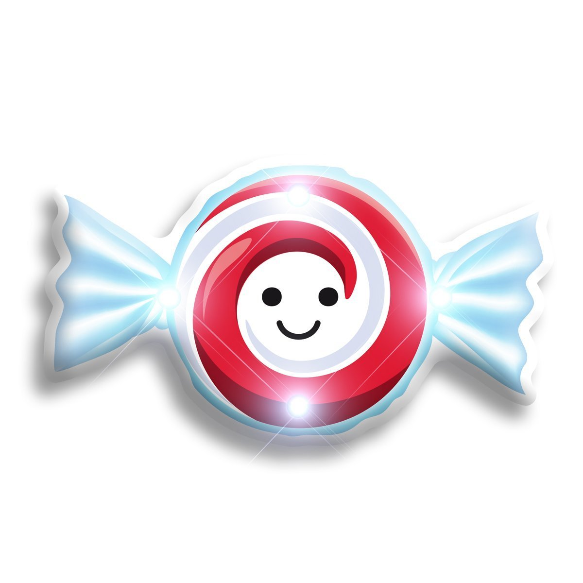 Happy Peppermint Candy Flashing Body Light Lapel Pins All Products