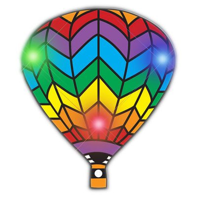 Hot Air Balloon Flashing Body Light Lapel Pins All Body Lights and Blinkees