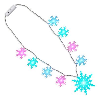 Huge Snowflakes Color Changing Necklace Lighted Christmas Necklaces