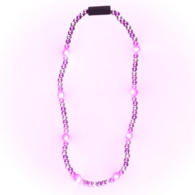LED Beads Pink Purple and Silver Purple