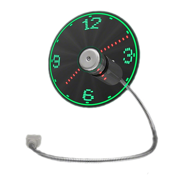 LED Fan Clock with USB Connection All Products