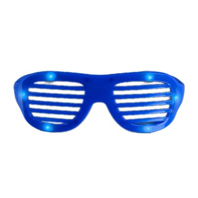 LED Hip Hop Shutter Shades Sunglasses Blue All Products