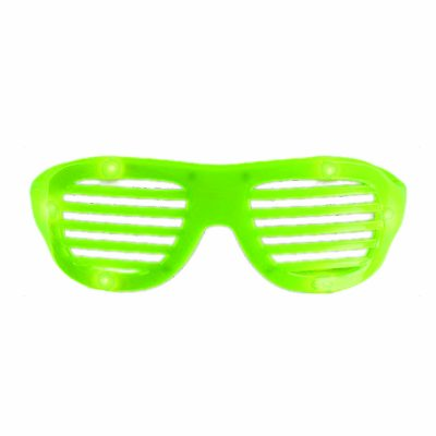 LED Hip Hop Shutter Shades Sunglasses Green All Products