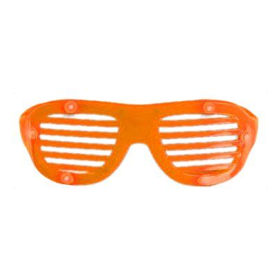 LED Hip Hop Shutter Shades Sunglasses Orange All Products