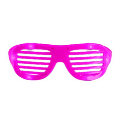 LED Hip Hop Shutter Shades Sunglasses Pink All Products