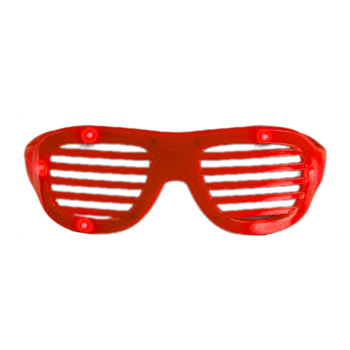 LED Hip Hop Shutter Shades Sunglasses Red All Products