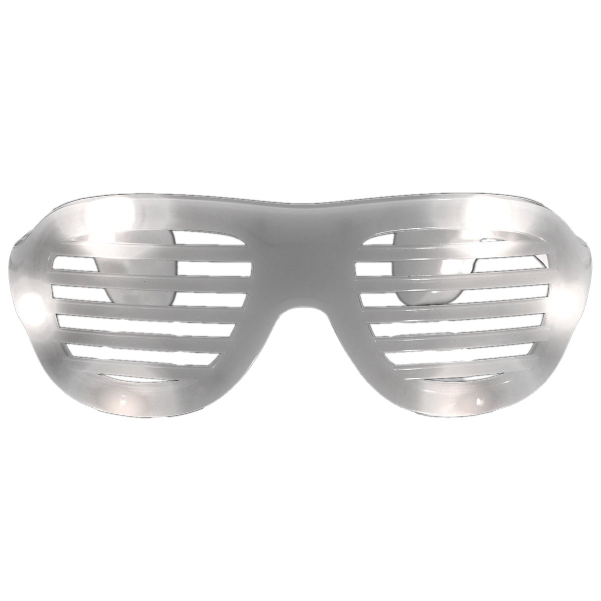 LED Hip Hop Shutter Shades Sunglasses White All Products