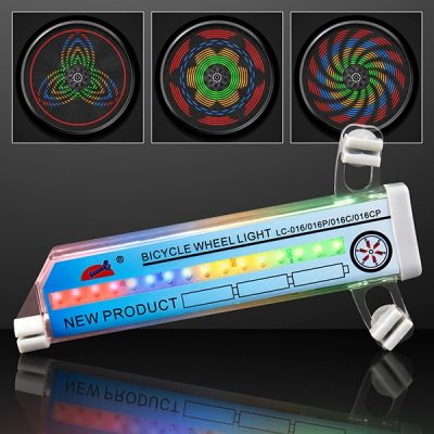 LED Kaleidoscope Bike Tire Lights Rainbow Multicolor