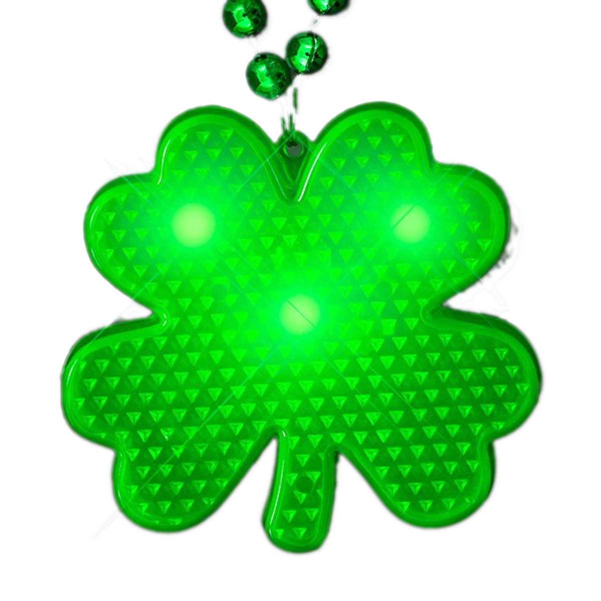 LED Shamrock Beaded Necklace All Products