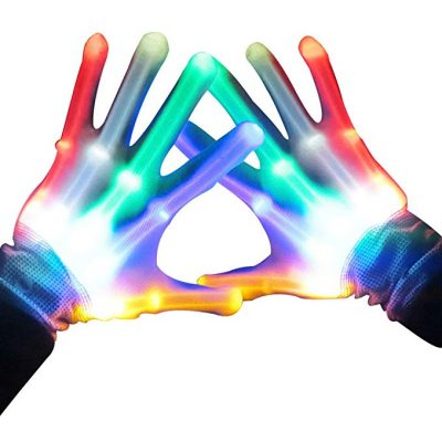 LED Skeleton Gloves Multicolor Rainbow Multicolor