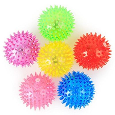 LED Soft Spike Air Bounce Ball Rainbow Multicolor