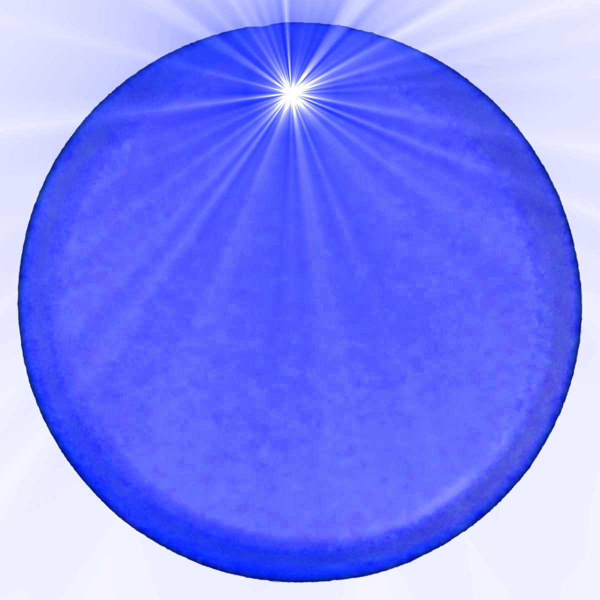 Light Up Round Badge Pin Blue All Products