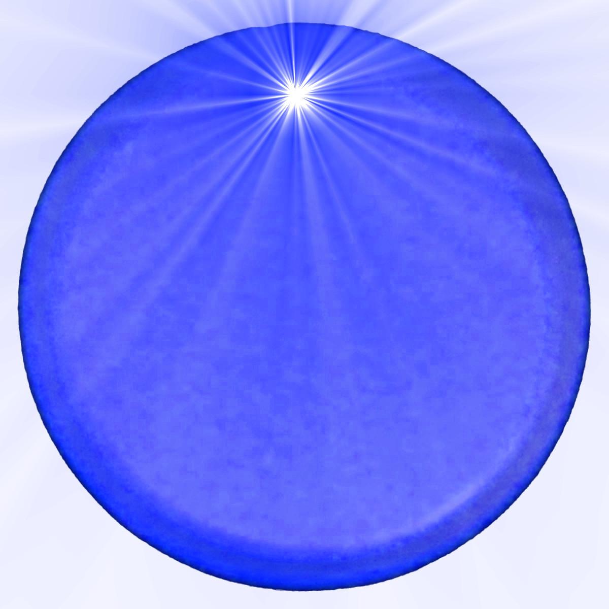 Light Up Round Badge Pin Blue Magic Matt S Brilliant Blinkys