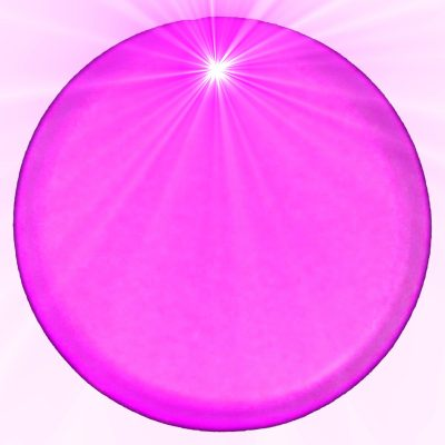 Light Up Round Badge Pin Pink Flashing