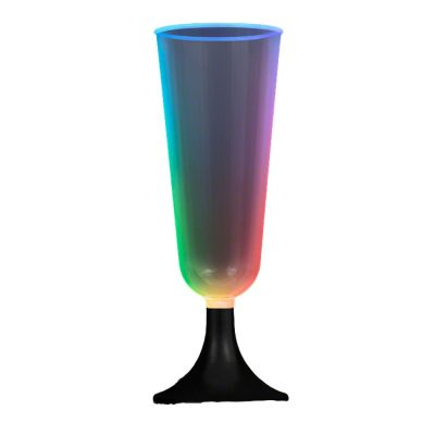 Mini LED Champagne Glass with Black Base Clubs, Concerts, Festivals, Disco